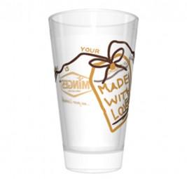 MINGES Glas »Latte Macchiato« (2-FA bedruckt)